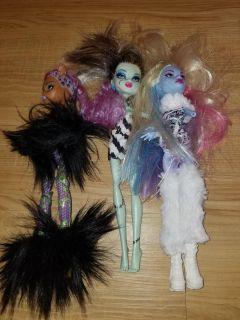 Monster high lot missing arms