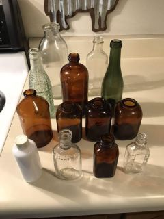 Collection of antique Bottles