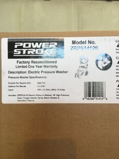 POWERSTROKE ELECTRIC PRESSURE WASHER