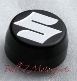 "Find GSXR 1000 Black Silver Engraved ""S"" Center Nut Cover Yoke/Stem Cap! 05-06-07-08 motorcycle in Plattsburg, Missouri, US, for US $25.99"