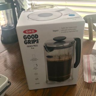 NEW!! Good Grips FRENCH PRESS, new in box/giftable. Only $25!