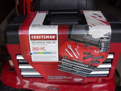 260 pc. set craftsman tools
