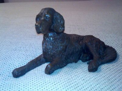 hand-carved dog