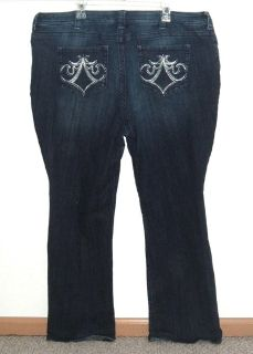 Womens Plus 24W Medium Lee SLENDER Secret Lower On The Waist Boot Cut Jeans Stretch