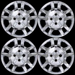 "Sell 4 Chrome 2007-2012 Sentra Bolt On 16"" Wheel Covers 4 Lug Hub Caps Full Rim Skins motorcycle in Syracuse, Utah, United States, for US $57.00"