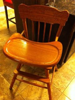 All Wood High Chair