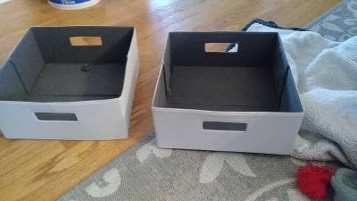 2 canvas bins from target