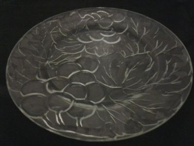 Clear Glass Decorative Dinner Plate