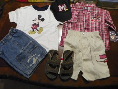 6 Piece/Lot Disney Store Mickey Mouse Outfits
