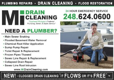 Mi Drain Cleaning - Oakland Plumbing, Sewer & Drain Cleaning (248) 624-0600