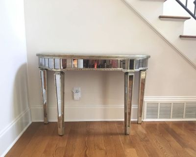 Two Borghese Mirrored Demi Loom Tables