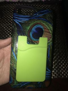 Peacock Feather IPhone 7 Plus/8 Plus Case W/ Card Holder