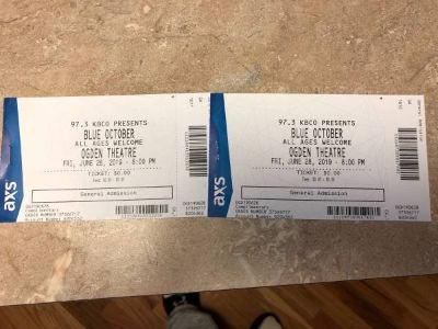 Two concert tickets (Blue October)