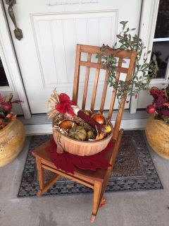 Fall Decoration With Rocking Chair