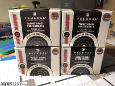 For Sale: Federal Auto Match .22LR