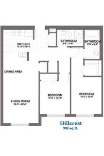 2 bedrooms Apartment - Welcome to Hanover an independent retirement community in Tinley Park, Illino