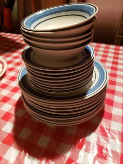 Dishes, great condition. Small chip in one plate, noted in pictures