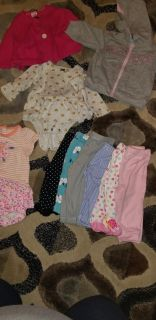 Girls 0-3 month baby clothes lot