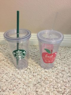 Pair of Plastic Drinking Cups