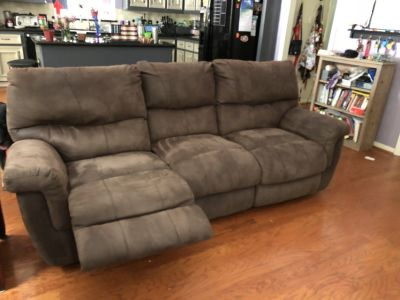 2 Reclining Brown Sofas