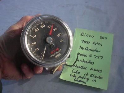 Buy Dixco 9000 RPM tachometer model 797 Galaxie thunderbolt nova camoro,Yenko, motorcycle in Vancouver, Washington, United States, for US $499.99