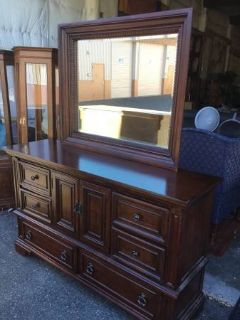 Beautiful Black Cherry Buffet / Lowboy Dresser - Delivery Available