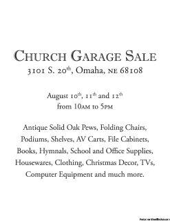 Church Estate Sale