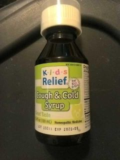 Kids relief homeopathic medicine cough and cold syrup