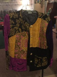 Multi color jacket. Lined. Great condition. XL+