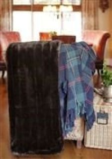 Elegant Brown Faux Fur Throw