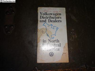 VW Distributor & Dealers North America Booklet