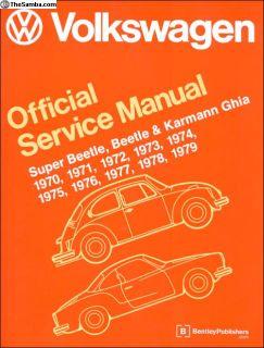 VW Repair Manual Super Beetle, Beetle 70-79