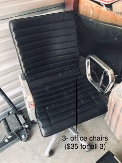 3- office chairs