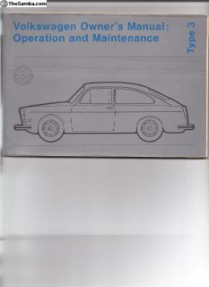 Owners manual NOS 1972 T-III