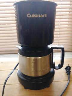 Cuisinart 4 cups coffee maker. Great condition from smoke free home.