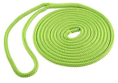 Purchase Green DOCK LINE Double Braid Polyester15ft 3/8in rope marine eye splice SL91635 motorcycle in Thompson, Missouri, United States, for US $9.99