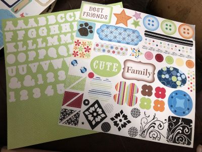 2 Sheets 12 x12 Cardstock Sticker Sheets