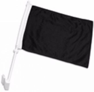 "Purchase Solid Black Decor CAR FLAG 12"" x 15"" x 16-1/2"" Window Roll Up Banner + pole motorcycle in Castle Rock, Washington, United States, for US $10.95"