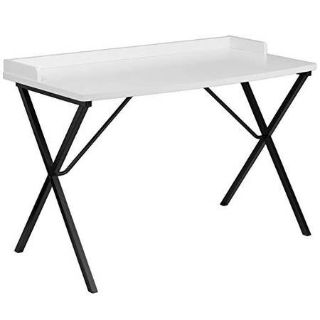 Offex Computer Desk, White - New - Bruised and Reduced