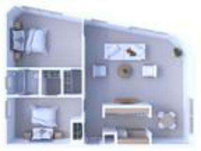 Times Square Apartments - Two BR Floor Plan B2