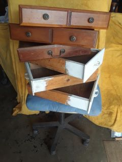 """All wood decorative drawers - 6 drawers-,$20.00"""""""""""