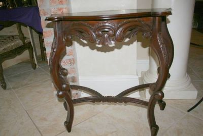 Carved Solid Wood Wall Table