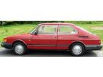 1989 Saab 900 Red 3 Door Hatchback Coupe Automatic 97K Mileage