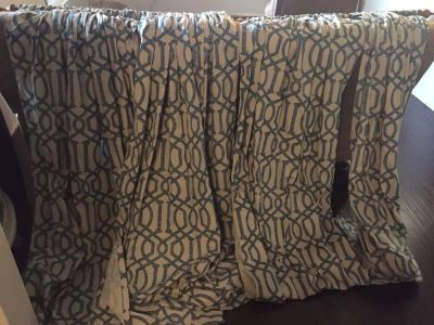 Four window panels/curtains