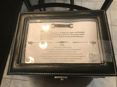 New Cas De Lux Leather Watch Box for 20 Watches