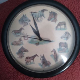 Very old battery operated horse lovers clock. Even has a horseshoe on the second hand. Awesome!