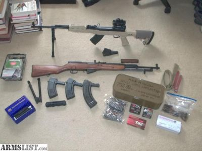 For Sale/Trade: For Sale/Trade: SELLING ( 2 ) TWO SKS + 800 ROUNDS AMMO+ ACCESSORIES... RARE ZASTAVA YUGO M59 ..NOT 59/66!! AND A NORINCO