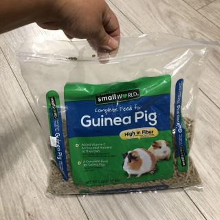 Guinea pig food (about 1/3 full)
