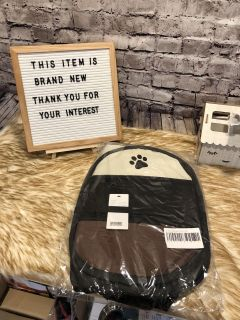 """Brand new : this pet playpen is perfect for small dogs or puppy or cat Size: M 28""""28""""18"""