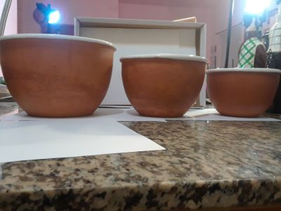 Porcelain Lined Terra Cotta Bowls From Spain